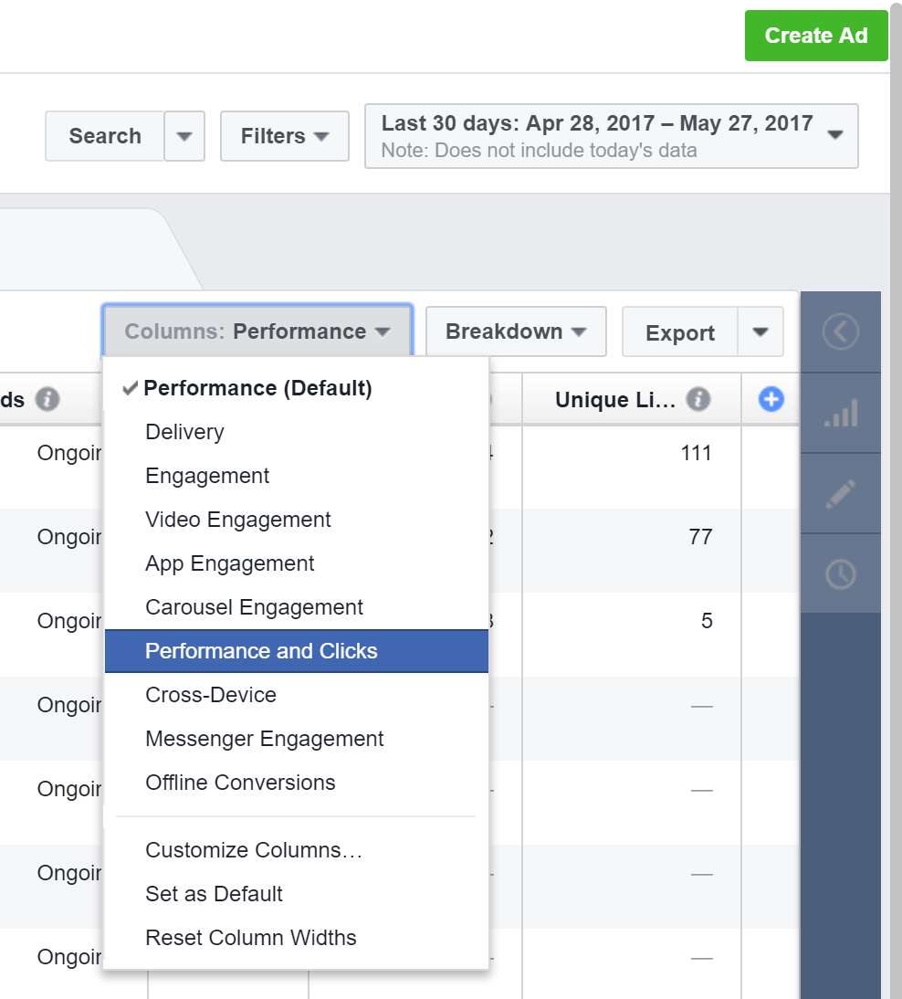 Tracking Facebook Ads in Google Analytics - Facebook Breakdown