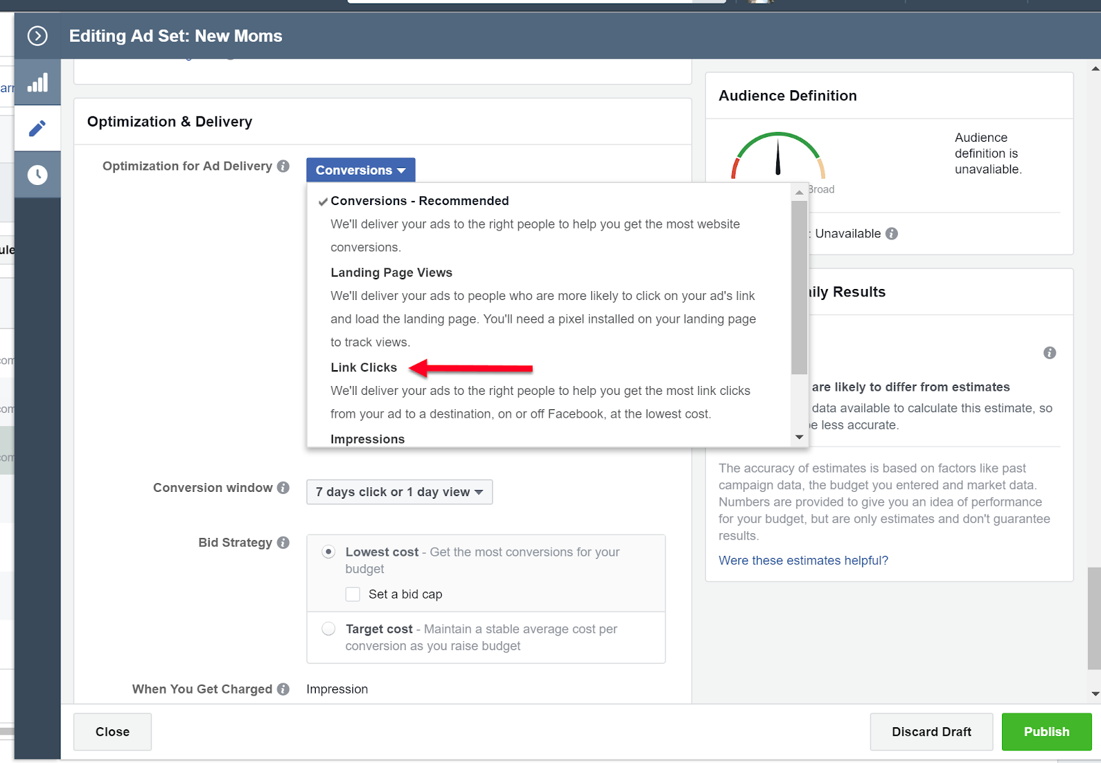 Facebook Conversion Optimization