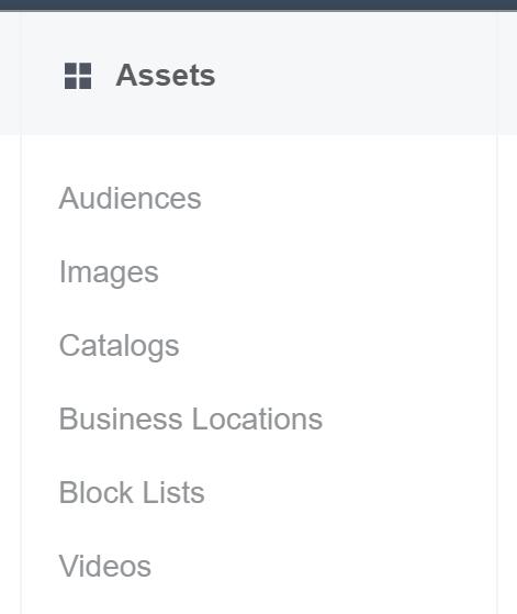 Facebook Ads Manager - Assets