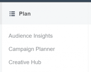 Facebook Ads Manager - Plan