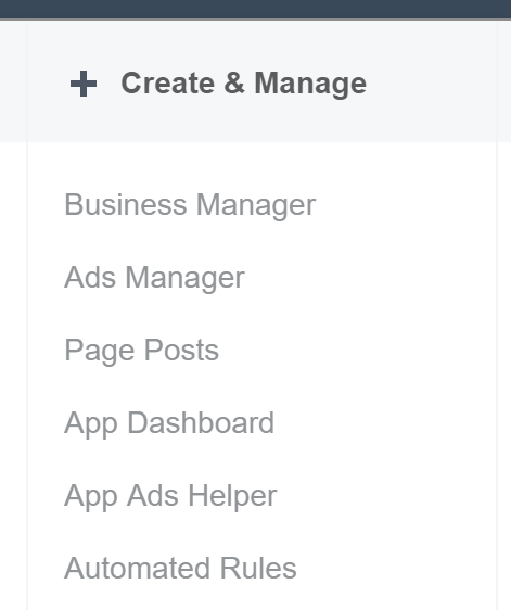 Facebook Ads Manager - Create & Manage