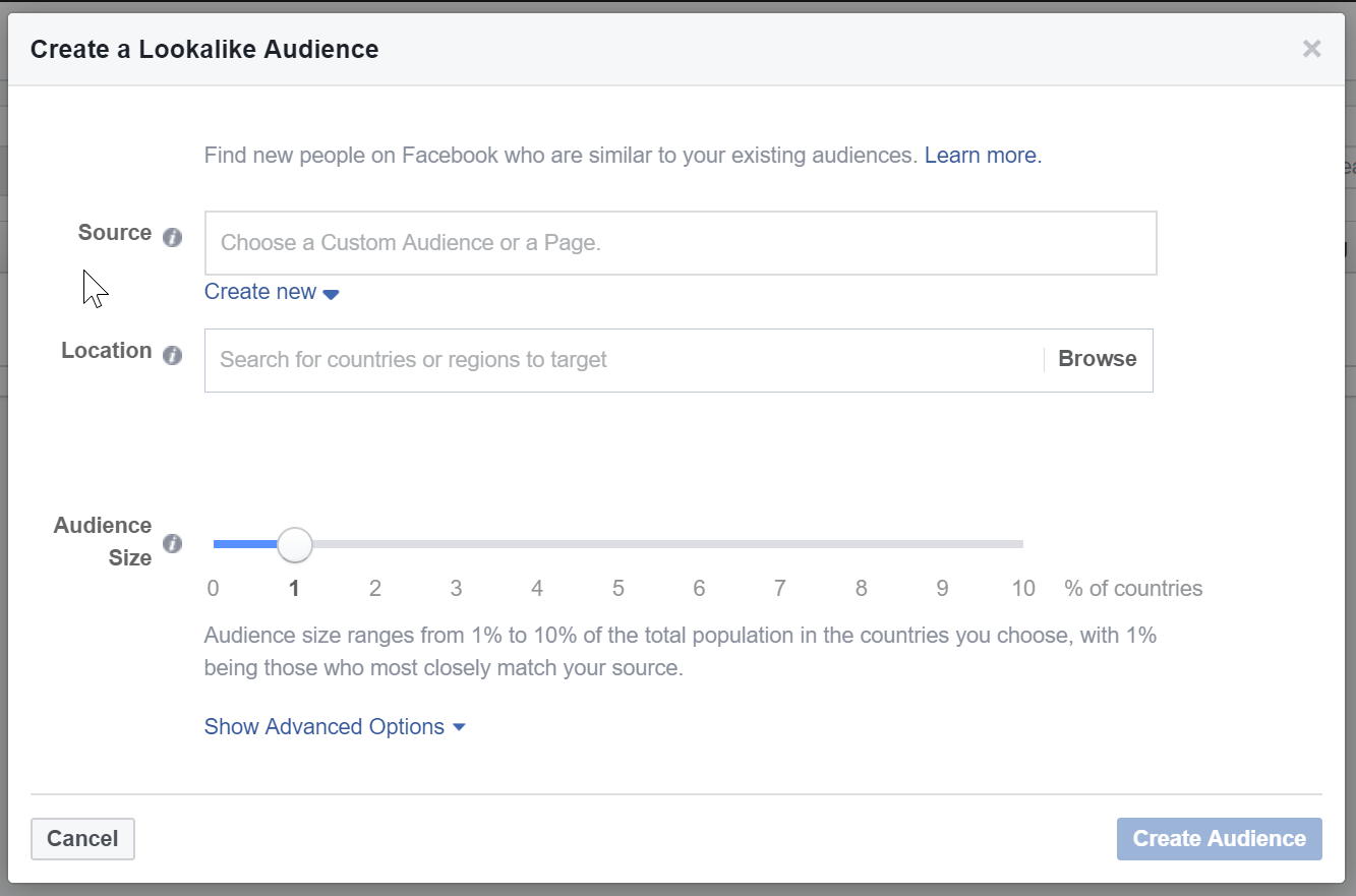 Facebook Ads Manager - Audiences