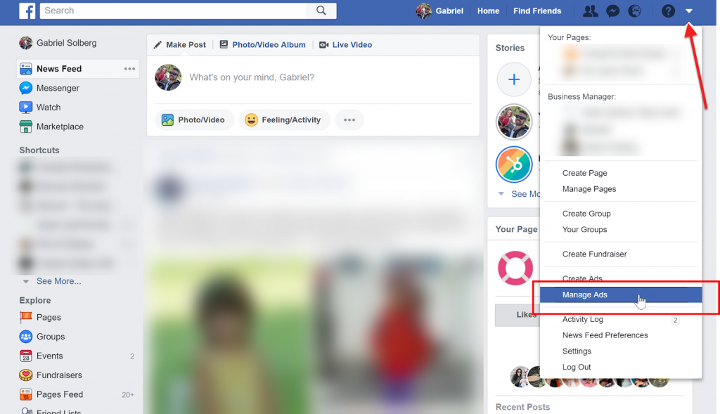 Access Facebook Ads Manager