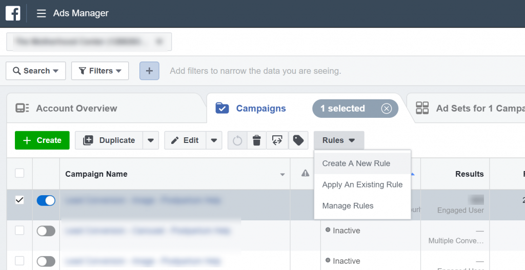 campaign tracking in Facebook