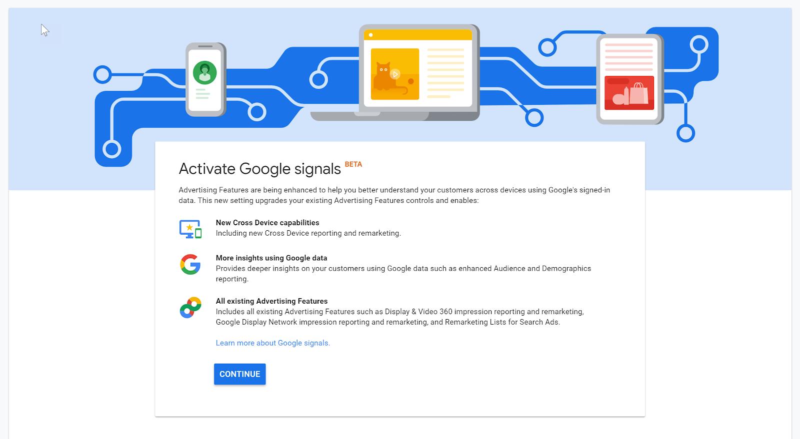 google analytics signals