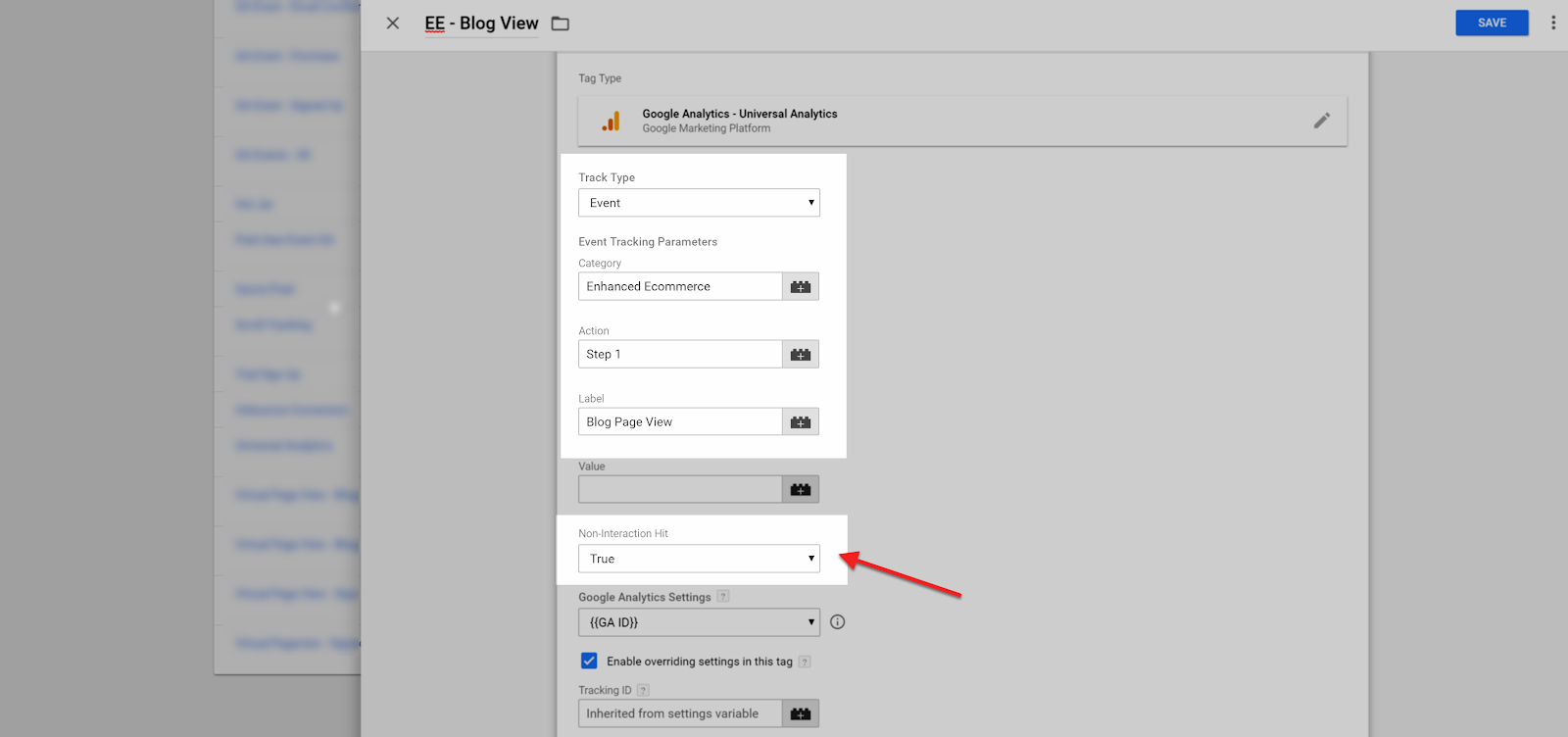 GTM Ecommerce Tags