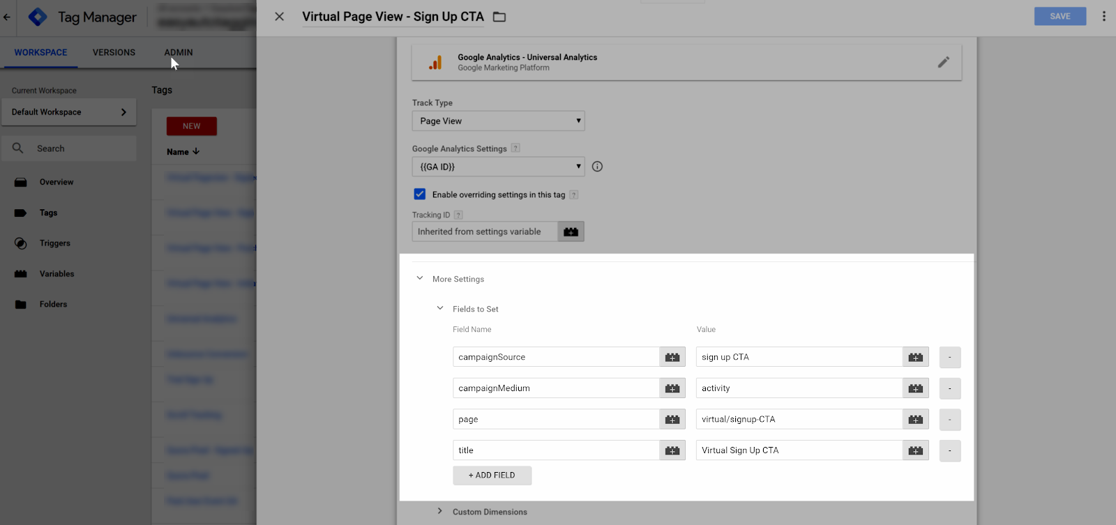 Google Tag Manager Virtual Page Views