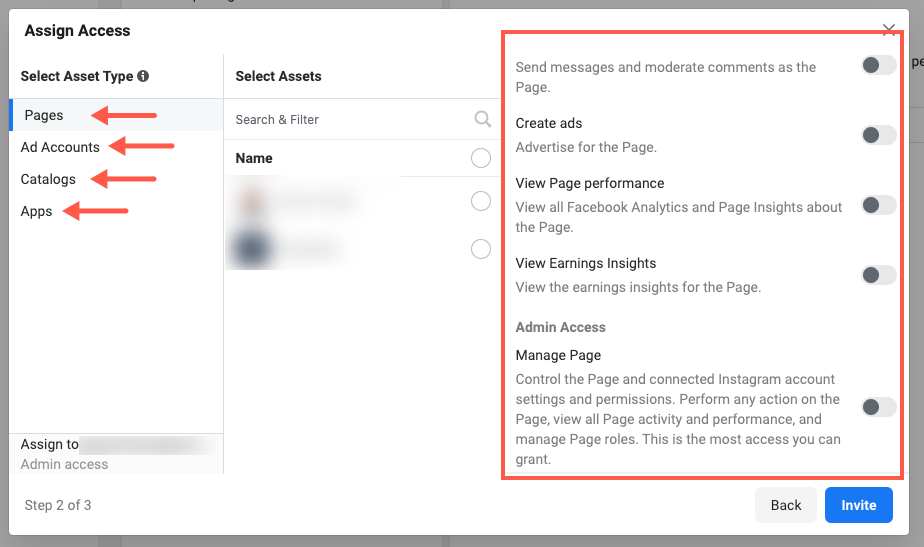 assign access facebook business manager