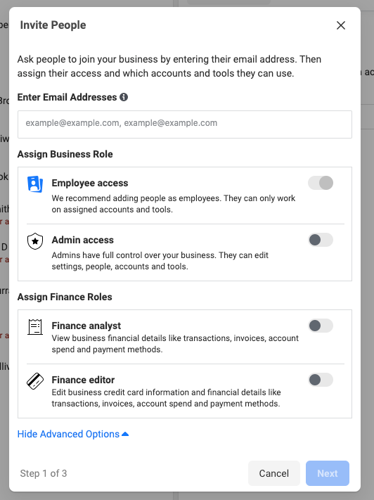 invite people facebook business manager