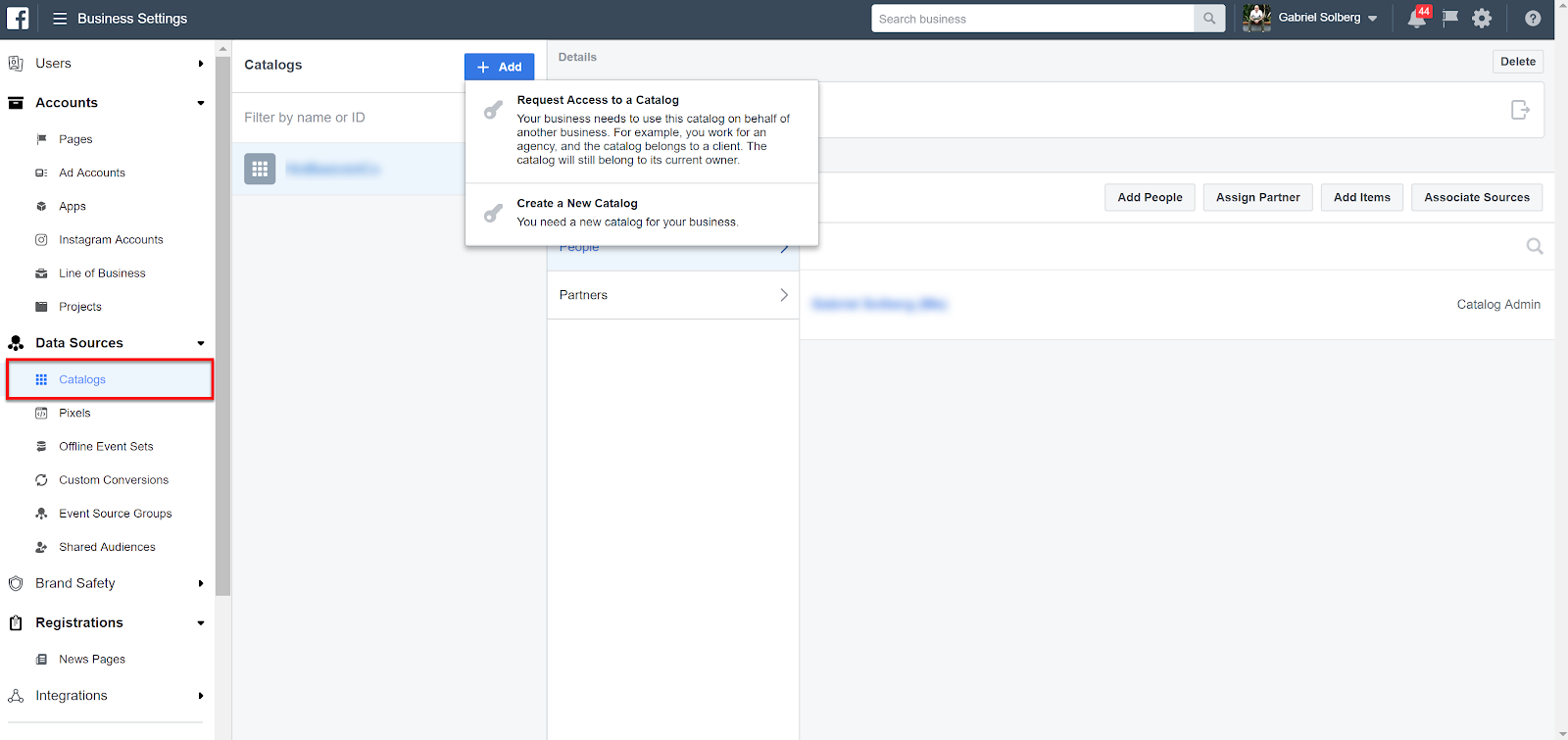 Facebook Business Manager - Catalog