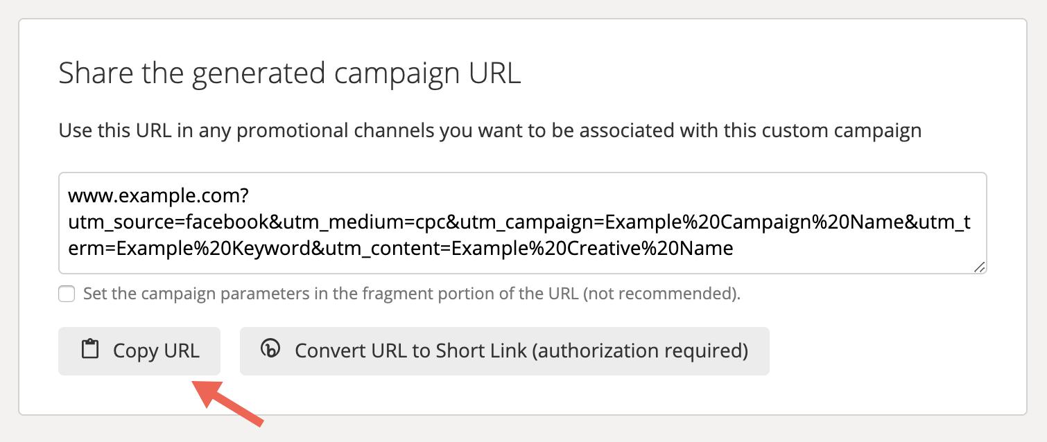 Afbeeldingsresultaat voor share the generated campaign url