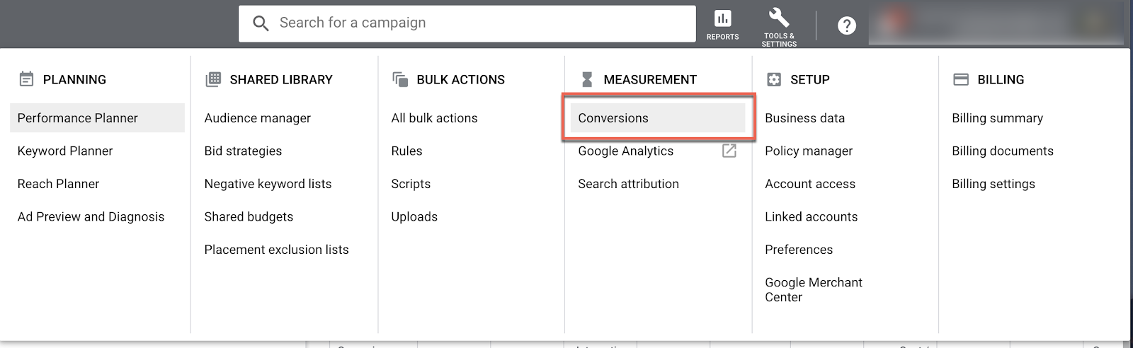 google ads conversion attribution