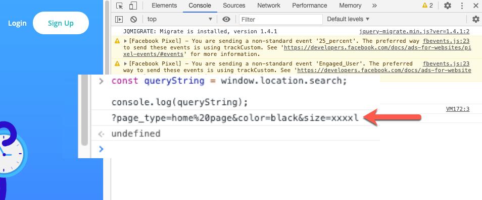 javascript get url parameter value by name printed values
