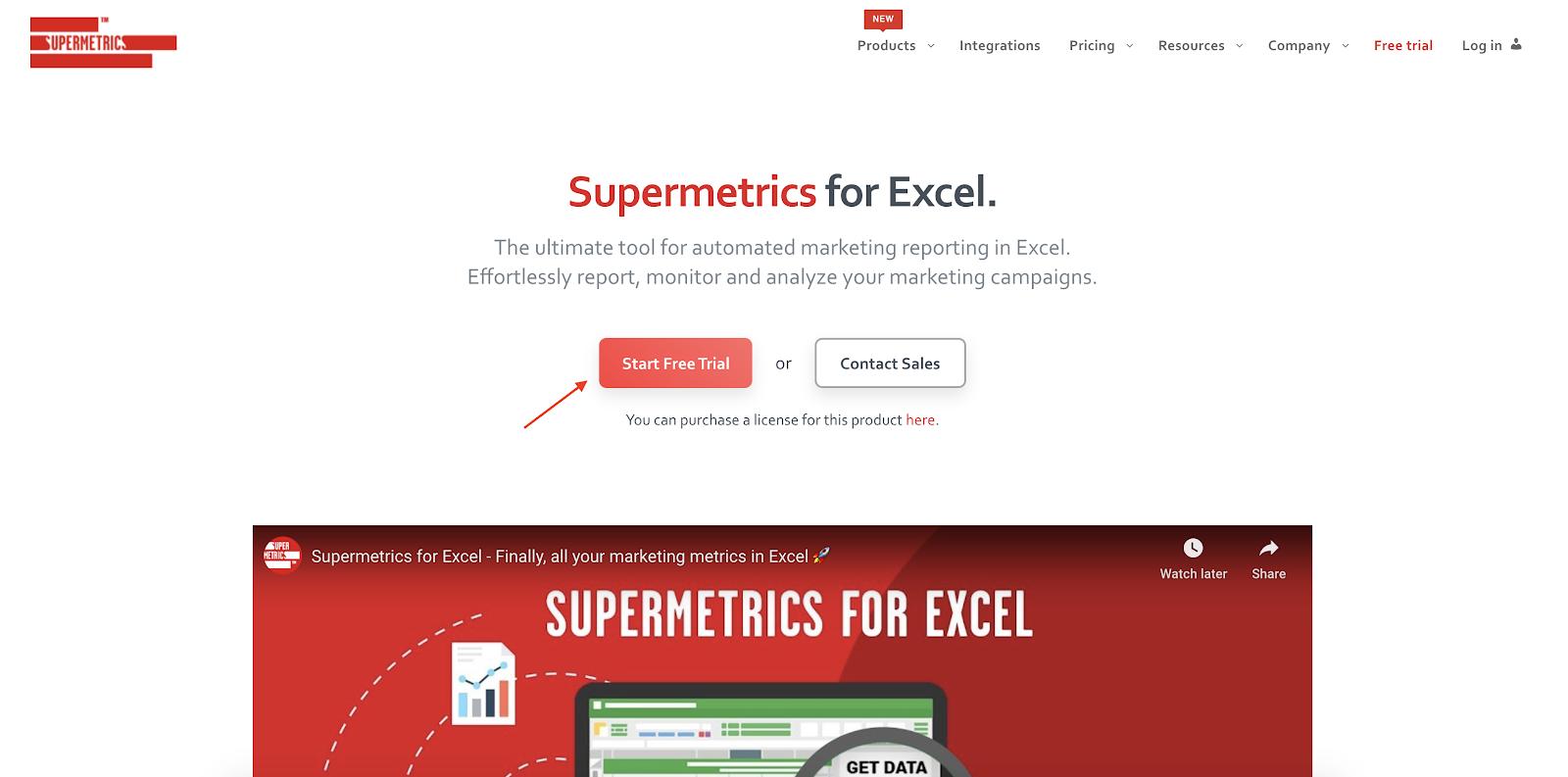 Supermetrics for Excel