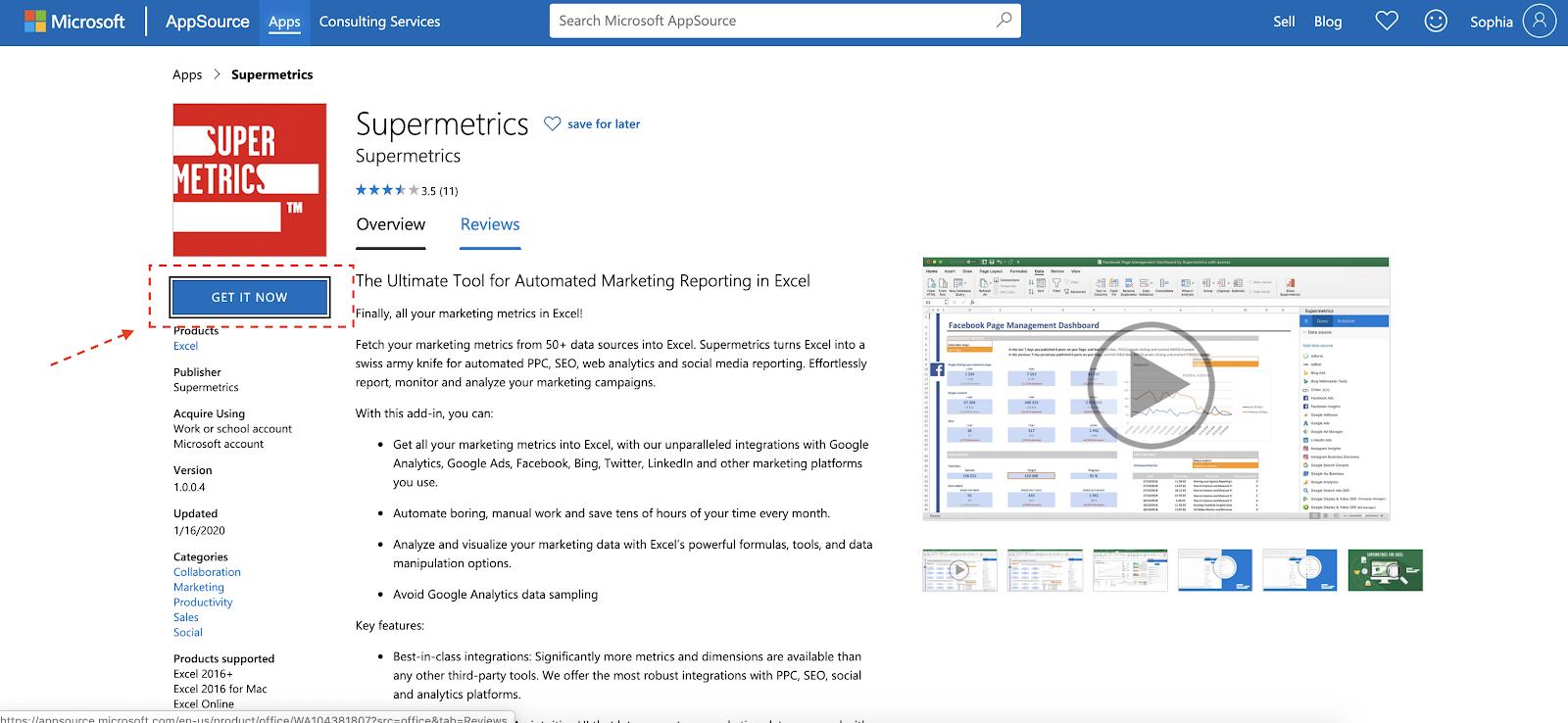 Supermetrics for Excel Microsoft Site