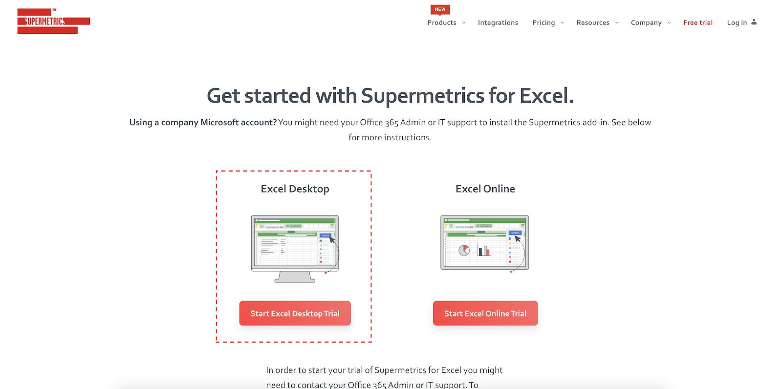 Supermetrics for Excel - Desktop