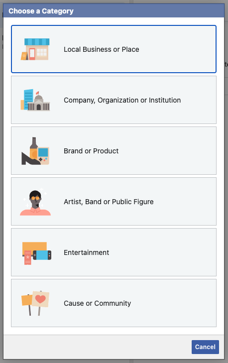 create page in business manager