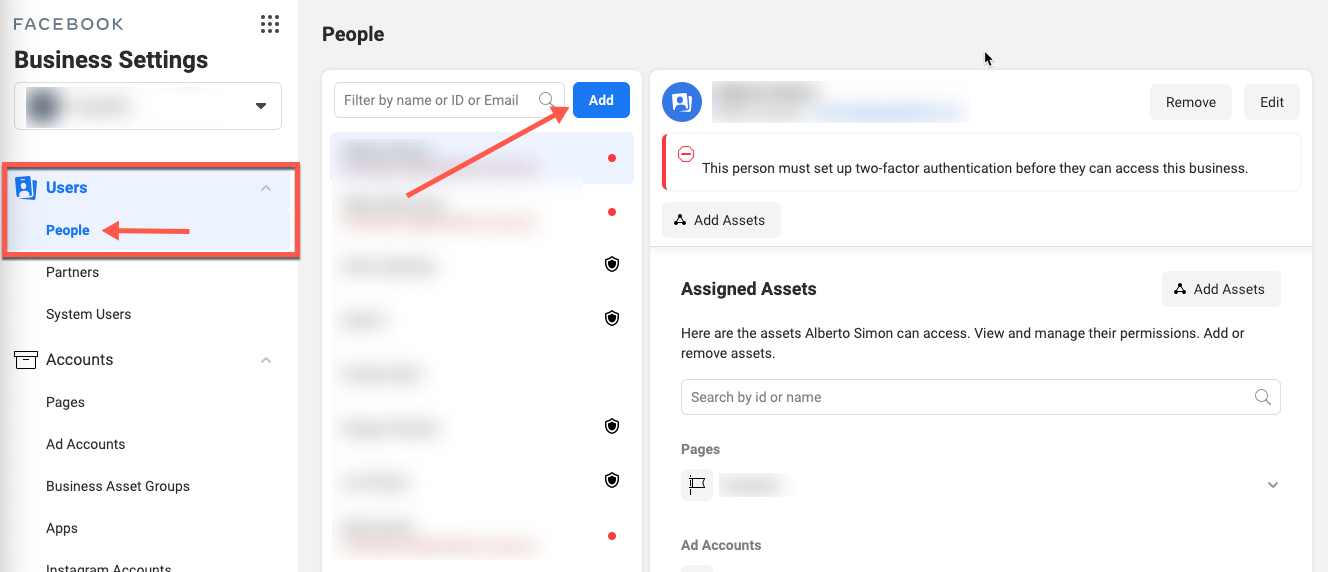 how to give access to facebook business manager