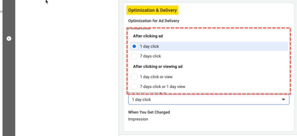 optimization and delivery facebook ads manager